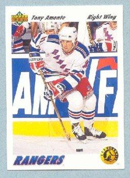 1991-92 UD # 450 -- Tony Amonte Rookie Card Star Rookie RC