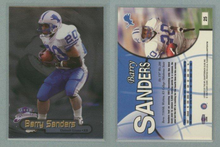 1998 Fleer Brilliants # 25 BARRY SANDERS -- MINT