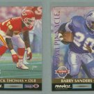 1992 Pinnacle Team Pinnacle # 2 BARRY SANDERS and DERRICK THOMAS -- MINT