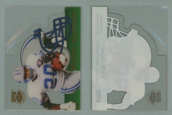 1995 Absolute Die Cut Helmets # 21 BARRY SANDERS -- MINT