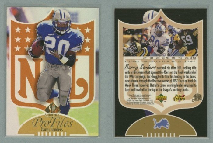 1997 SP Authentic ProFiles # P-24 BARRY SANDERS -- MINT