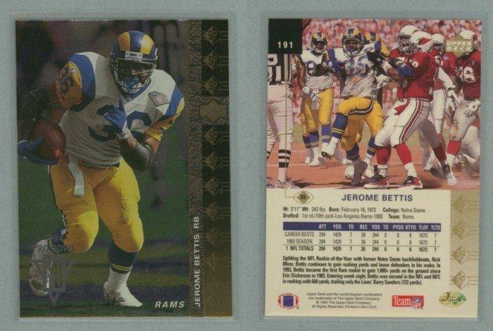1994 SP # 191 JEROME BETTIS