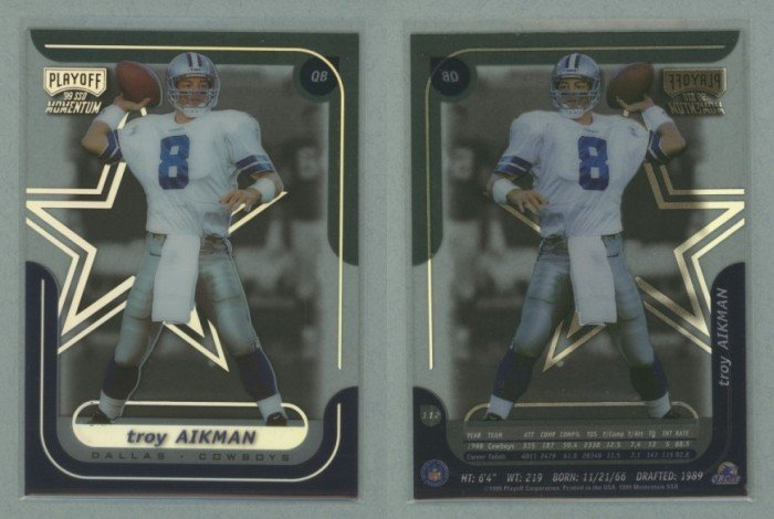 1999 Playoff Momentum SSD # 112 TROY AIKMAN -- MINT