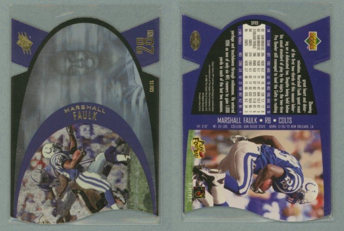 1997 SPx # 9 MARSHALL FAULK -- MINT