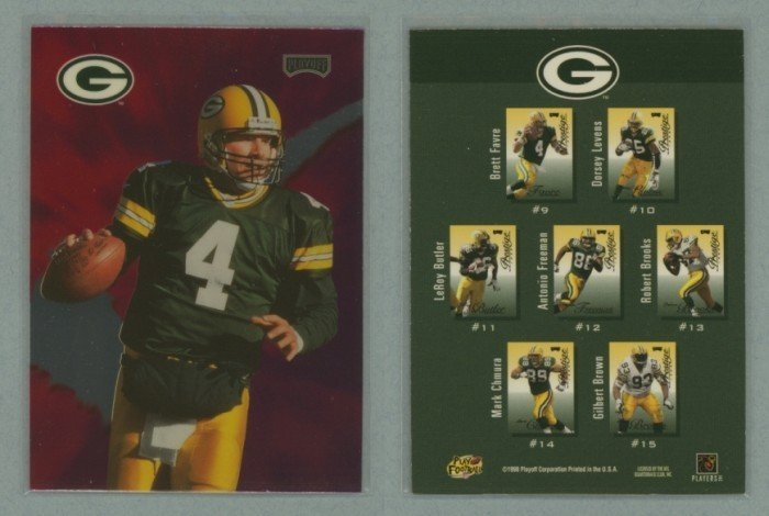 1998 Playoff Prestige Checklists # 10 BRETT FAVRE -- MINT