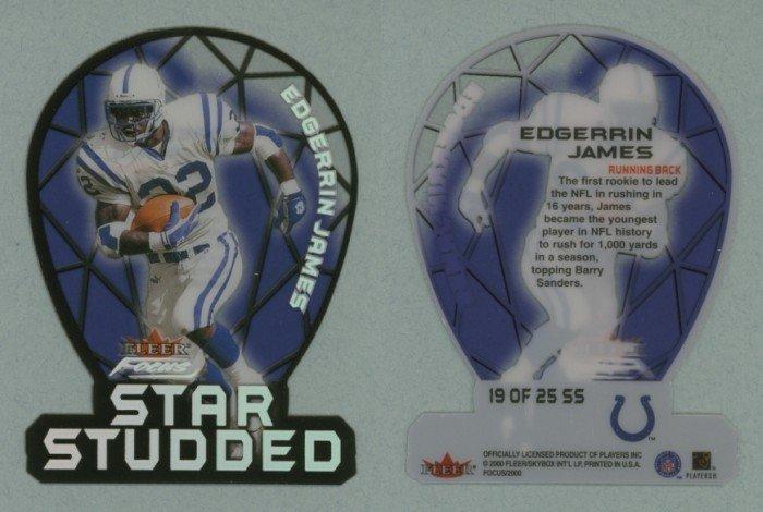 2000 Fleer Focus Star Studded # 19 EDGERRIN JAMES -- MINT