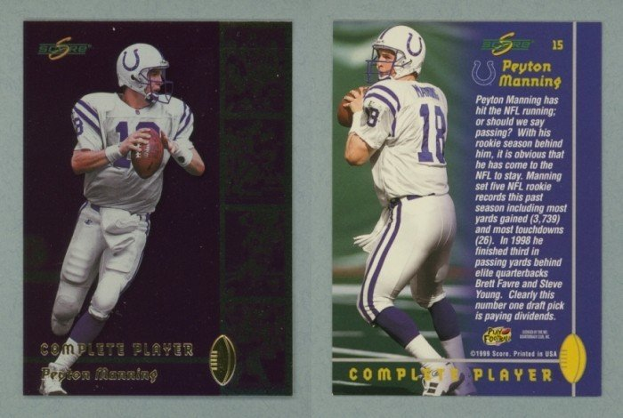1999 Score Complete Players # 15 PEYTON MANNING