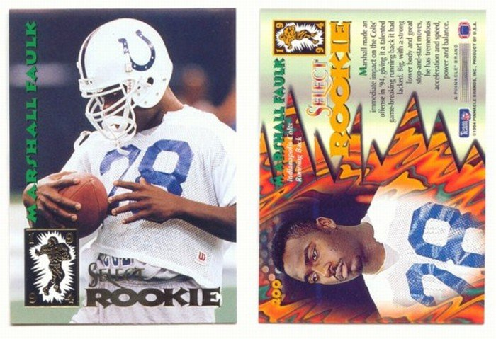 1994 Select # 200 MARSHALL FAULK RC Rams MINT Rookie