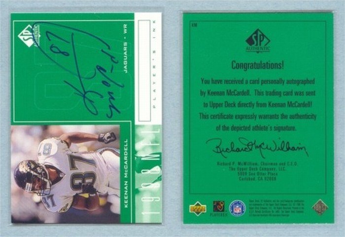 1998 SP Authentic Players Ink # KM KEENAN McCARDELL Auto