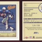 2002 Fleer Authentix # 53 SHAUN ALEXANDER #d 128 of 150 -- MINT
