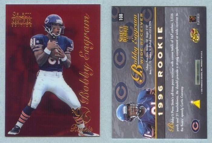 1996 Select Certified Red # 108 BOBBY ENGRAM RC Bears Seahawks -- MINT