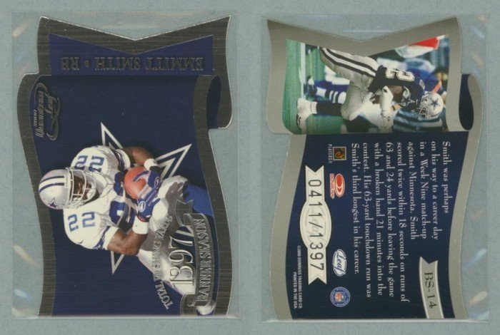 2000 Quantum Leaf Banner Season # BS-14 EMMITT SMITH #d 0411 of 1397 -- MINT