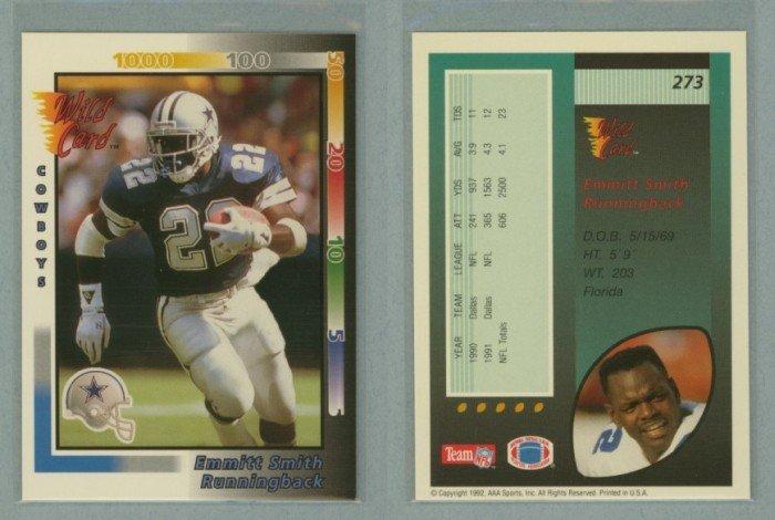 1992 Wild Card # 273 EMMITT SMITH