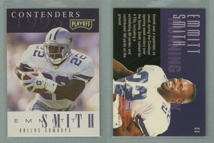 1995 Playoff Contenders # 22 EMMITT SMITH -- MINT