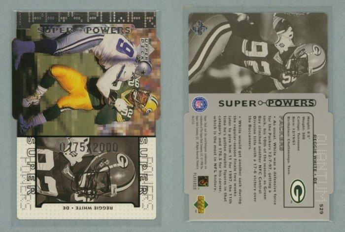 1998 Upper Deck Super Powers Die Cut Silver # S29 REGGIE WHITE #d 0175 of 2000 -- MINT