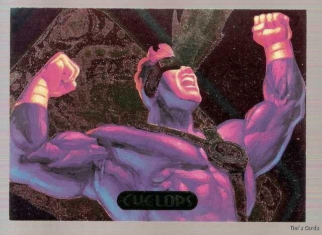 1994 Marvel Masterpieces PowerBlast Card #4 Cyclops