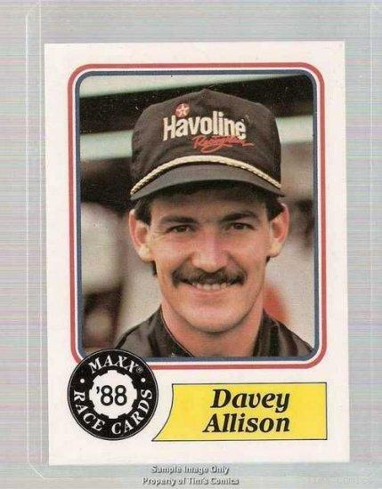 1988 Maxx Racing Card #5 Davey Allison Rookie