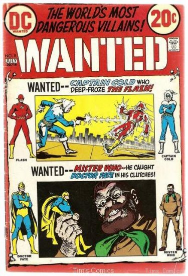 Wanted the World's Most Dangerous Villains #8 DC Good