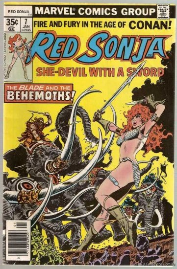 Red Sonja (1977 Series) #7 Marvel Comics 1978 GD/VG