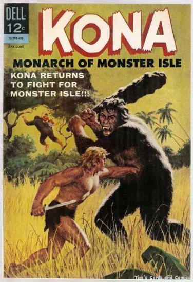 Kona #10 Dell Comics 1963 Monarch of Monster Isle FN -