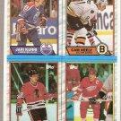 1989-90 Topps Hockey Box Bottom Card Sheet I-L