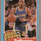 1990-91 Fleer Rookie Sensations Card #8 Tim Hardaway EX