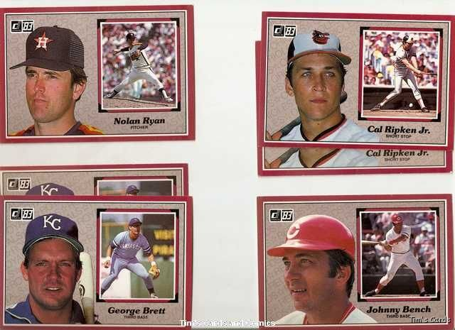 Lot of 120 1983 Donruss Action All-Stars Baseball Cards