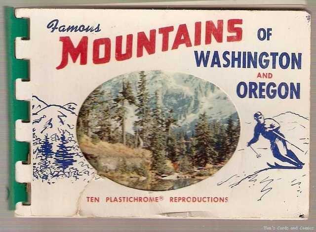 Famous Mountains of Washington and Oregon Scenic Views