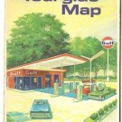 Gulf Oil Illinois and Indiana Tourgide Map 1968