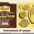 Regal Waterless Cookware Instruction & Recipes Book 70s