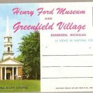 Henry Ford Museum and Greenfield Village Souvenir Folder
