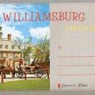 Williamsburg Virginia Souvenir Folder