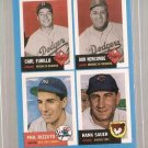 1992 Bazooka Baseball Quadracard '53 Archives Card #2