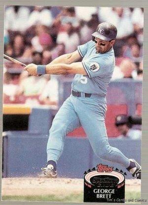 1992 Topps Stadium Club Baseball Card 150 George Brett