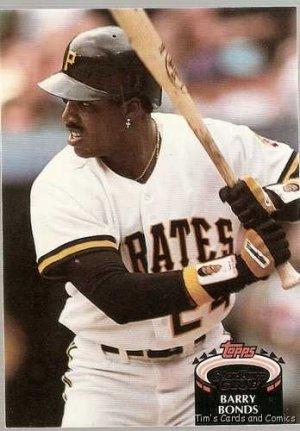 1992 Topps Stadium Club Baseball Card 620 Barry Bonds