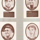 Lot of 9 Sport Hobbyist Baseball Cards Ruth Gehrig Cobb