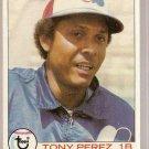 1979 Topps Baseball Card #495 Tony Perez EX