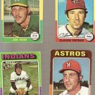Lot of 4 1975 Topps Mini Baseball Cards