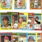 Lot of 13 1975 Topps Baseball Cards