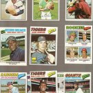Lot of 42 1977 Topps Baseball Cards Minor Stars Commons EX to EX-MT