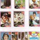 1981 Topps Coke Detroit Tigers Team Set Coca-Cola Baseball