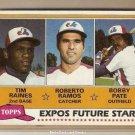 1981 Topps Baseball Card #479 Tim Raines RC