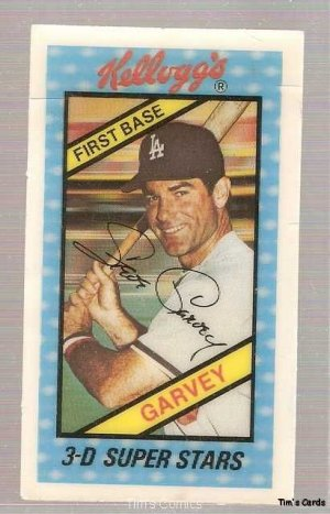 1980 Kelloggs Baseball Card 3 Steve Garvey Gd