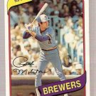 1980 Topps Baseball Card #406 Paul Molitor EX-MT