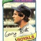 1980 Topps Baseball Card #450 George Brett EX