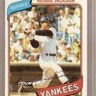 1980 Topps Baseball Card #600 Reggie Jackson EX