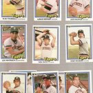 1981 Donruss Detroit Tigers Team Set Baseball Cards