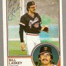 Autographed 1983 Topps Baseball Card #518 Bill Laskey