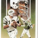 Legends Sports Memorabilia Joe Namath Postcard Sample