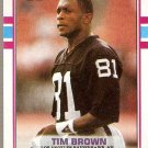 1989 Topps Football Card #265 Tim Brown Rookie
